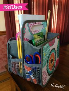 If you know me, you know I have a thirty-one addiction. But seriously the bags keep me organized, look awesome, and make great gifts! Look...Thirty one teacher gift! Double duty caddy.
