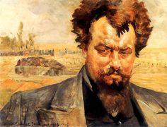 Portrait of Jan Kasprowicz - Jacek Malczewski  1903