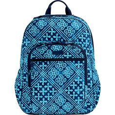 Vera Bradley Campus Tech Backpack Cuban Tiles School Backpacks 108 Liked
