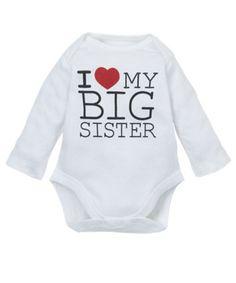 Mothercare I Love My Big Sister Bodysuit