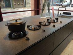 Four burners in a row: our model 'Danau' @ Van der Zandt Keukens, Wageningen, NL