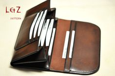 PDF patterns Long wallet long billfold CCD15 by LZpattern on Etsy, $6.00