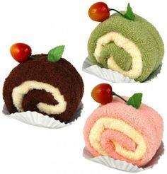 Wash cloth cake roll desserts