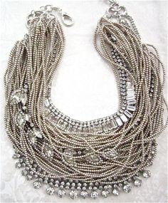 Made to Order Chunky Rhinestone Pearl Necklace by AllThingsTinsel
