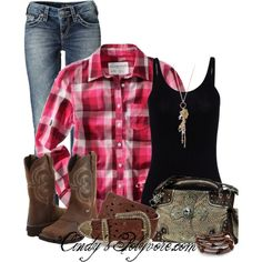 Country Comfy in pink plaid