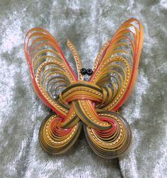 Vintage Brooch Pin  Handmade Butterfly by KIMPLICITY on Etsy
