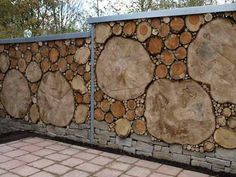 Beautiful fence designs that use different materials for only .- Schöne Zaun-Designs, die verschiedene Materialien für einzigartige, moderne Wände mischen – Garten Beautiful fence designs that mix different materials for unique, modern walls, -
