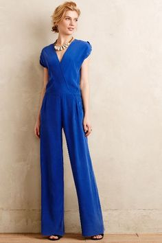 Anacapa Silk Jumpsuit - #ROYAL #BLUE anthropologie.com #anthrofave