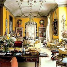 "Interior design by Mario Buatta (aka ""The Prince of Chintz"")"