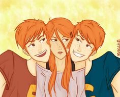 Ginny, George and Fred♡♡