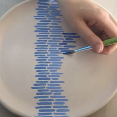 Watching process videos might be our favorite way to meditate. Here's a hand-painted ceramic plate in the works from Etsy seller… The post Watching process videos might be our favorite way to meditate. Here's a hand-p& appeared first on Trendy. Diy Ceramic, Painted Ceramic Plates, Ceramic Design, Hand Painted Ceramics, Ceramic Painting, Ceramic Pottery, Pottery Art, Porcelain Painting Ideas, Hand Painted Pottery