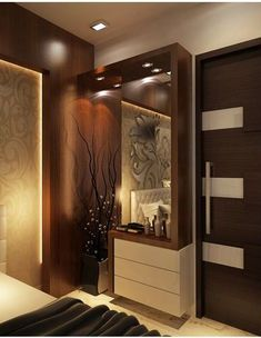 Dressing Unit offered by Ansa Interior Designers, a leading supplier of Dressing Table in Mayapuri, New Delhi, Delhi. The Company was incorporated in 2003 and is registered with IndiaMART. Wardrobe Door Designs, Wardrobe Design Bedroom, Bedroom Bed Design, Bedroom Furniture Design, Home Room Design, Bedroom Ideas, Bedroom Designs, Master Bedroom, Bedroom Dressing Table