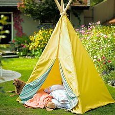 How to make a backyard tepee