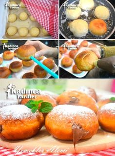 Alman Çöreği Berliner Tarifi Delicious Cake Recipes, Yummy Cakes, Dessert Recipes, Yummy Food, Desserts, New Recipes, Sweet Recipes, Cooking Recipes, Donuts