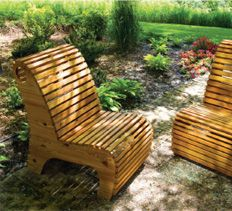 DIY Landscaping & Garden, Woodworking Plans & Projects - Outdoor Slat Chair Project Plan  $100 in materials.