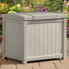 Suncast 22 Gallon Yard and Garden Stay Dry Resin Deck Box, Light Taupe Pack) Outdoor Storage Boxes, Small Storage Boxes, Patio Storage, Shed Storage, Toy Storage, Box Light, Laying Decking, Pool Supplies, Garden Supplies