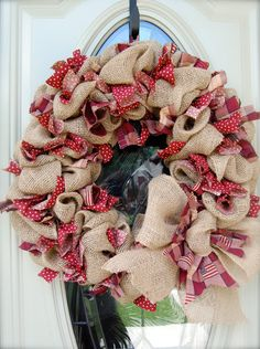 Hey, I found this really awesome Etsy listing at http://www.etsy.com/listing/155396369/americana-burlap-wreath