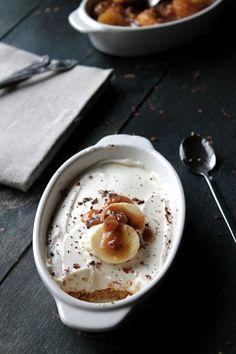 Banana Foster No Bake Cheesecake @Kate Petrovska   Diethood