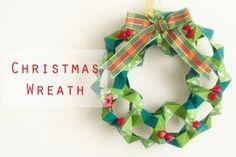 折り紙105枚からなるパーツを組み立てて作るユニット折り紙のクリスマスリースの折り方・作り方。作るのは少し難しいのですが、出来上がりはかなりの本格派。部屋のインテリアとしても十分に活用することができます。… Christmas Origami, Christmas Wreaths, Christmas Crafts, Christmas Ornaments, Origami Wreath, Origami And Kirigami, Origami Xmas Decorations, Christmas Decorations, Cute Crafts