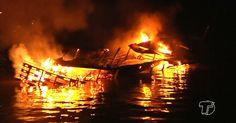 Barco que transportava combustível explode e 15 ficam feridos no PA