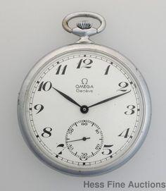 Vintage Omega 17J  Art Deco 960 Mens Thin Open Face Pocket Watch #Omega