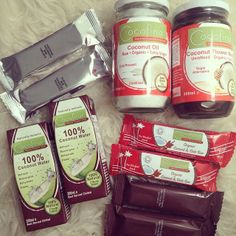 Cocofina Coconut Water, Coconut  Date, Cocoa, Macaroon Bars, Organic Virgin Coconut Oil, Coconut Flower Nectar!