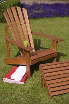 Buy Adirondack chair: Delivery by Waitrose Garden in association with Crocus
