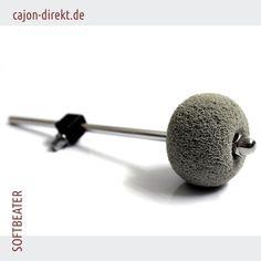 Softbeater, spezieller Schlägel für Cajon- Schlagflächen, e-Drums oder den leisen Bassdrumsound