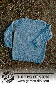 stricken Blue august / DROPS children - free knitting patterns by DROPS design Turf Wars-The B Baby Knitting Patterns, Baby Boy Knitting, Knitting For Kids, Knitting For Beginners, Knitting Designs, Baby Patterns, Free Knitting, Drops Design, Baby Afghan Crochet