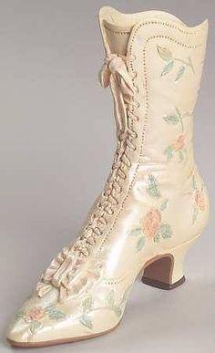 Botas victorianas de boda,