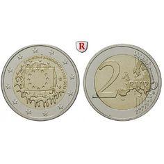 Griechenland, Republik, 2 Euro 2015, bfr.: Republik seit 1973. Kupfer-Nickel-2 Euro 2015. Europaflagge. bankfrisch 5,00€ #coins