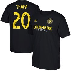 Wil Trapp Columbus Crew SC Male Adult 2017 MLS Player Name and Number T-Shirt - Black