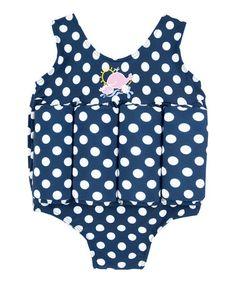 Love this Navy Polka Dot Floatation One-Piece - Infant, Toddler & Girls by JoJo Maman Bébé on #zulily! #zulilyfinds