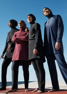 Why Nike's Victory Swimsuit Could Alter The Athletic Landscape For Muslim Women Islamic Swimwear, Muslim Swimwear, Muslim Fashion, Hijab Fashion, Modest Fashion, Fashion Outfits, Nike Hijab, Full Body Swimsuit, Sports Hijab