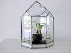 Vintage Glashaus als Dekoration für Pflanzen / glass house vintage, modern living by alpenrose via DaWanda.com