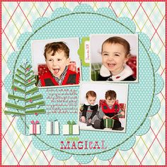 Simply Magical scrapbook layout