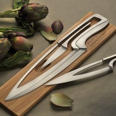Space-Saving Ideas DIY Projects Craft Ideas & How To's for Home Decor with Videos - Space-saving knife set Kitchen Knives, Kitchen Tools, Kitchen Gadgets, Kitchen Products, Kitchen Decor, Unique Knives, Cool Knives, Modern Knife Sets, Casa Magna
