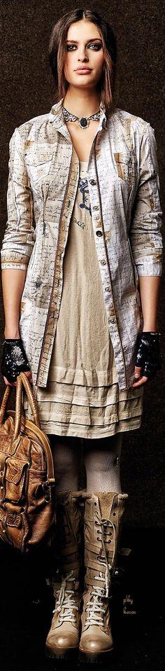 -Elisa Cavaletti F/W 2015 - Daniela Dallavalle Collections Urban Chic Fashion, Mature Fashion, Cute Fashion, Unique Fashion, Boho Fashion, Womens Fashion, Fashion Trends, Gypsy Style, My Style