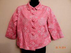 Women's Silk Land Pink Button Pleated Spring Blazer Suit Jacket Sze Petite Small #SilkLand #Blazer