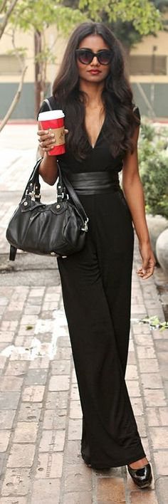 City 'Chic' Fashion & Style ❤ ♥ Black Chic Jumpsuit by Tuolomee