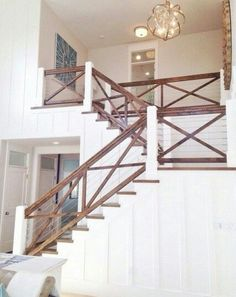 Awesome Modern Farmhouse Staircase Decor Ideas – Decorating Ideas - Home Decor Ideas and Tips - Page 30 Farmhouse Stairs, Modern Farmhouse, Rustic Stairs, Modern Rustic, Farmhouse Ideas, Rustic Deck, Farmhouse Flooring, Rustic Style, Farmhouse Style
