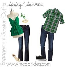 coordinating outfits for engagement pictures - Google Search