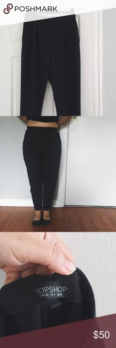 Selling this Topshop Black Straight Pants 🎱 on Poshmark! My username is: beatywavves. #shopmycloset #poshmark #fashion #shopping #style #forsale #Topshop #Pants