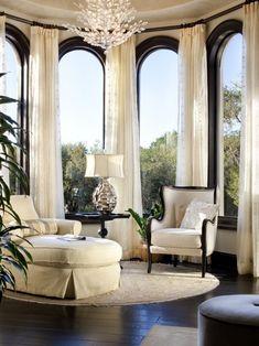 Elegant Mediterranean window nook.
