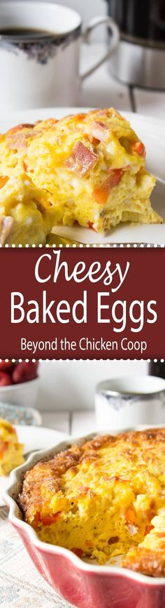 Cheesy Baked Eggs are perfect for breakfast or brunch and elegant enough for holiday breakfast!