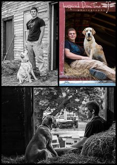 """Senior Portraits with Passion""  Man's best friend ~ A boy & his dog on the farm.  Fall Farm Senior Portrait Session ~  Class of 2015 Senior Portraits www.inspiredfromtime.com Stacey Guptill, Inspired from Time Photography"