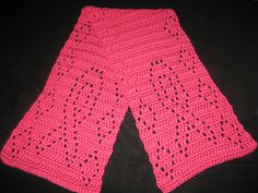 Breast Cancer Awareness Crochet Scarf: free pattern