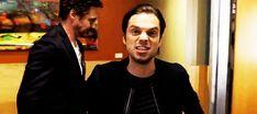 "natchioelektra: "" ""RDJ giving Sebastian a kiss on the cheek. "" """