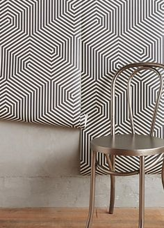 Black and white labyrinthian wallpaper