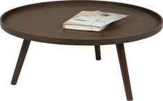 Deze Extra Large  bijzettafel Mesa van Woood is super hip en trendy! De tafel is verkrijgbaar in twee formaten en heeft een mooie donkere walnoot kleur. Combineer de twee formaten voor een speels effect!